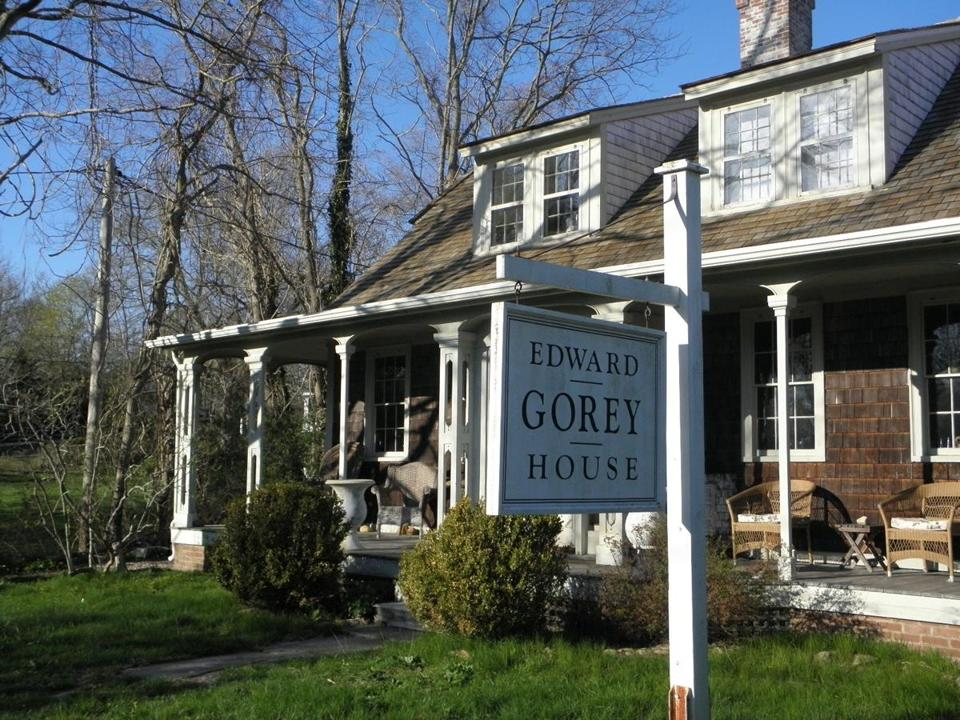 The house where Edward Gorey lived for 14 years until his death in 2000 is a guided tourist draw in Yarmouth Port, with a shop of Gorey drawings and books and souvenir items.